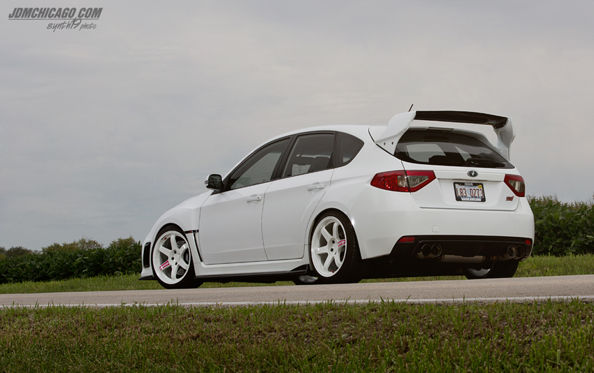 Varis Blacktop Aero Wrx Sti Hatchback Wide Body Spoiler